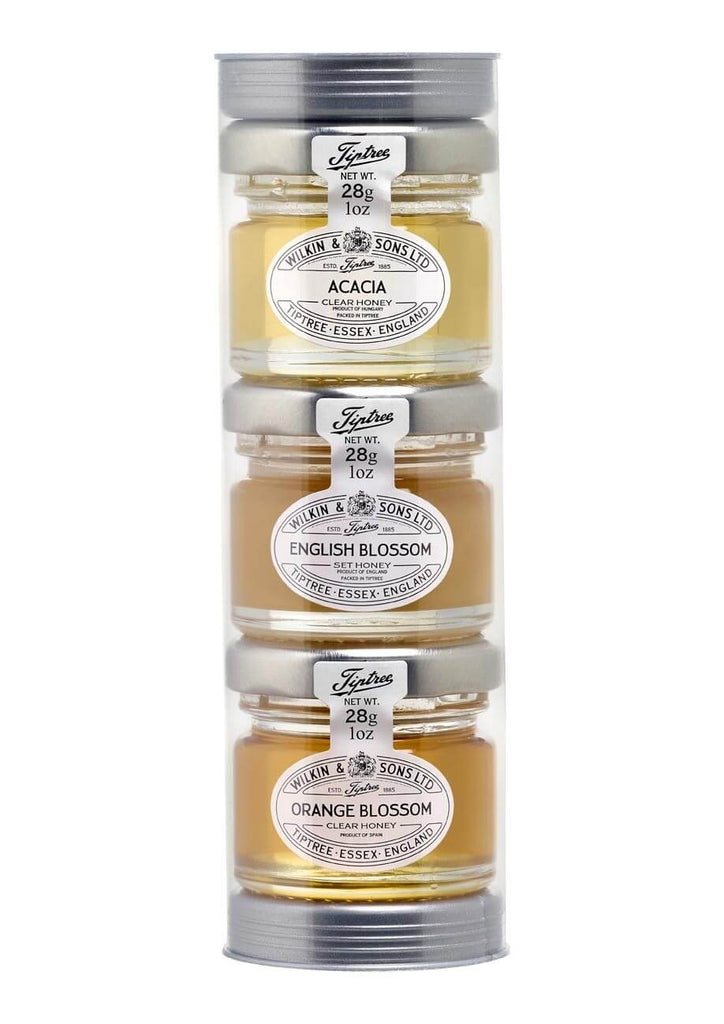 Wilkin and Sons Tiptree Trio of Honey Gift Tube (Item Contains 3 Mini Jars) 84g