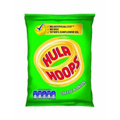 KP Hula Hoops Cheese and Onion Potato Rings 34g