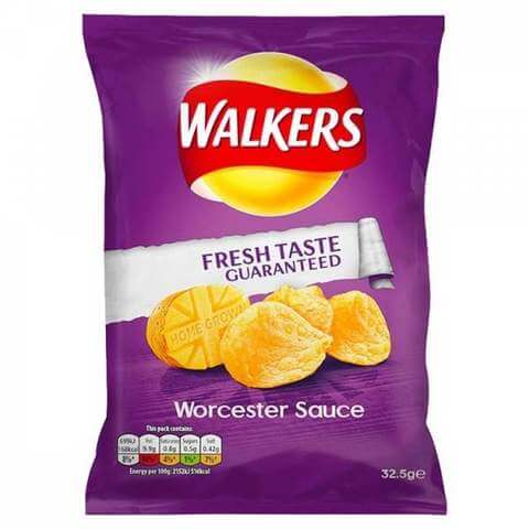Walkers Worcester Sauce Flavor Potato Crisps 32.5g