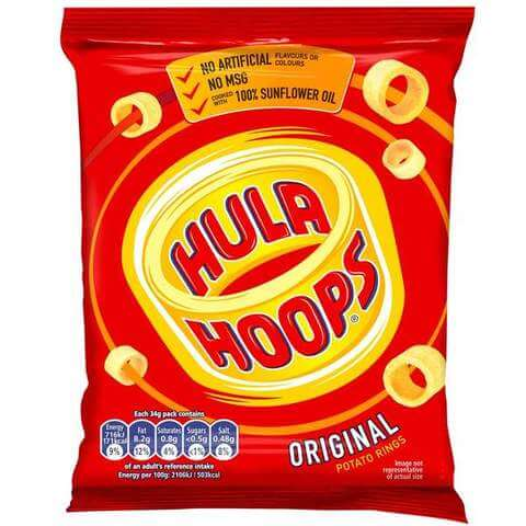 KP Hula Hoops Original Potato Rings 34g