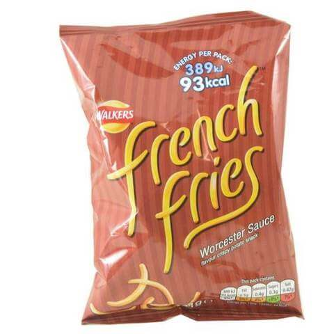 Walkers French Fries Worcester Sauce Crisps 21g