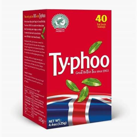 Typhoo Tea Bags (Pack of 40) 125g