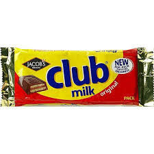 Jacobs Milk Chocolate Club Bars (Item Contains 5 Bars) 120g