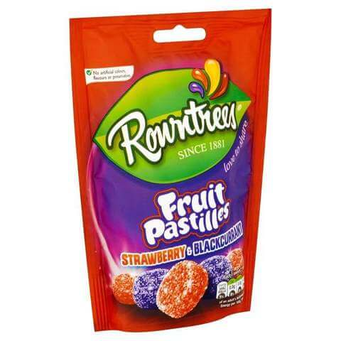 Rowntrees Fruit Pastilles -Strawberry and Blackcurrant Bag 150g