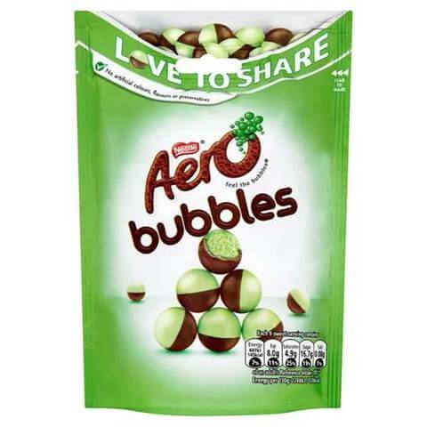Nestle Aero Delightful Peppermint Bubbles 102g