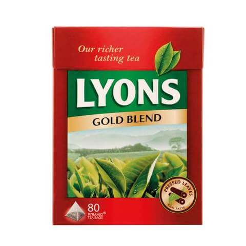 Lyons Gold Blend Tea Bags (Pack of 80) 250g