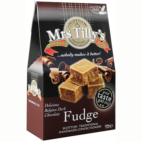 Mrs. Tillys Belgian Chocolate Fudge Carton 150g