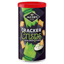 Jacobs Cracker Crisps Sour Cream And Chive Flavor Caddy 230g