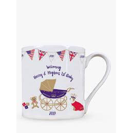 Milly Green  -Welcoming Harry and Meghans 1st Baby Mug 160g