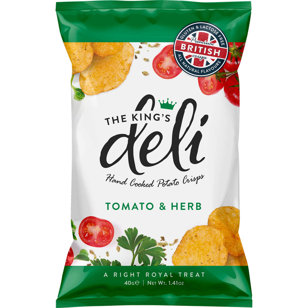 The Kings Deli Crisps - Tomato and Herb Flavour 40g