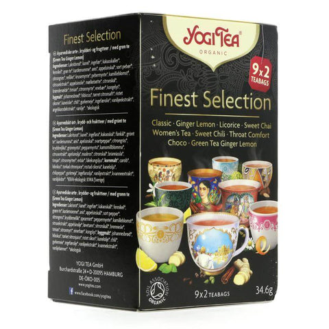 Yogi Tea - Finest Organic Selection (Pack of 18 Tea Bags) 34.2g