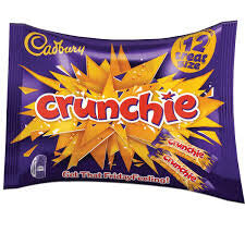 Cadbury Crunchie - Treat Size Bag (Pack of 12 Bars) 210g