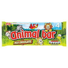 Nestle Animal Bars (Pack of 4 Bars) 76g