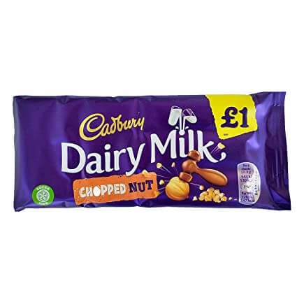 Cadbury Dairy Milk Bar - Chopped Nuts 95g