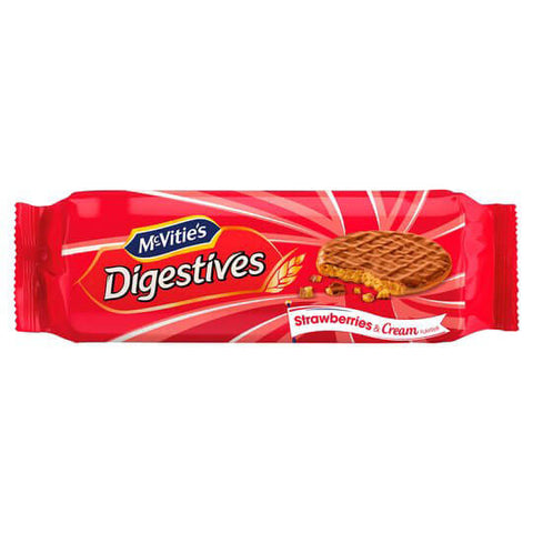 McVities Digestives - Strawberries and Cream Flavor 250g