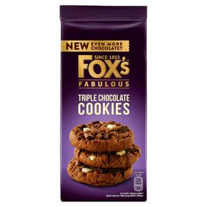 Foxs Biscuits - Triple Chocolate Cookies Cookies 180g