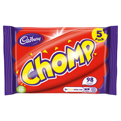 Cadbury Chomp Bars (Pack of 5 Bars) 105g