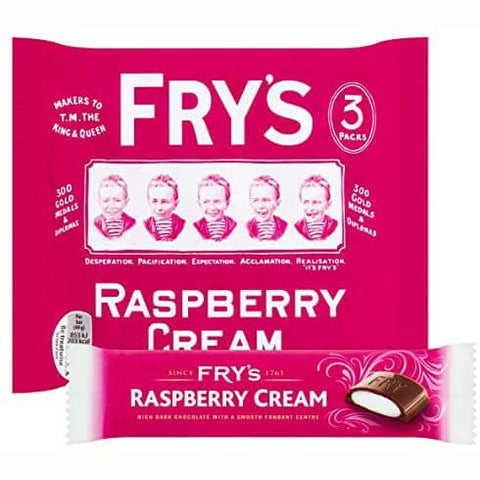 Frys Raspberry Cream Chocolate Bars (Pack of 3 Bars) 147g