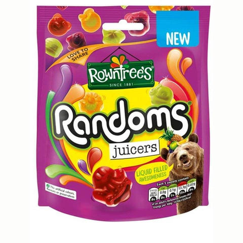Nestle Rowntrees Randoms - Juicers Pouch 140g