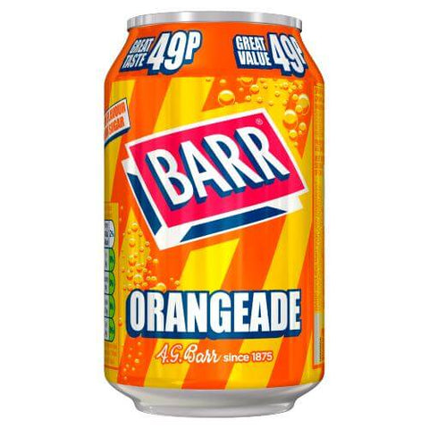 Barrs Orangeade Soda Can 330ml