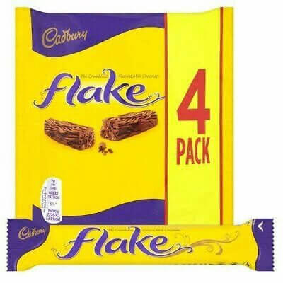 Cadbury Flake Bars (Pack of 4 Bars) 80g
