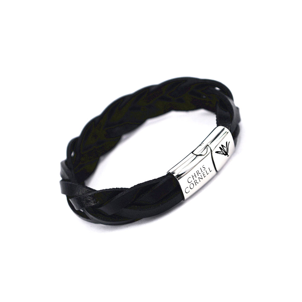 Leather Engraved Bracelet - Chris Cornell