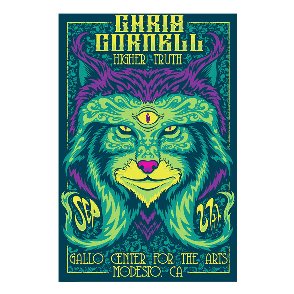 Higher Truth Modesto Poster-Chris Cornell