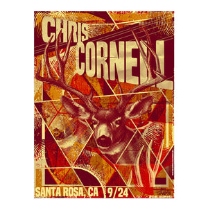 Higher Truth Santa Rosa Poster-Chris Cornell