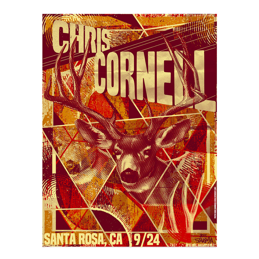 Higher Truth Santa Rosa Poster - Chris Cornell