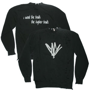 Higher Truth Distressed Sweatshirt-Chris Cornell