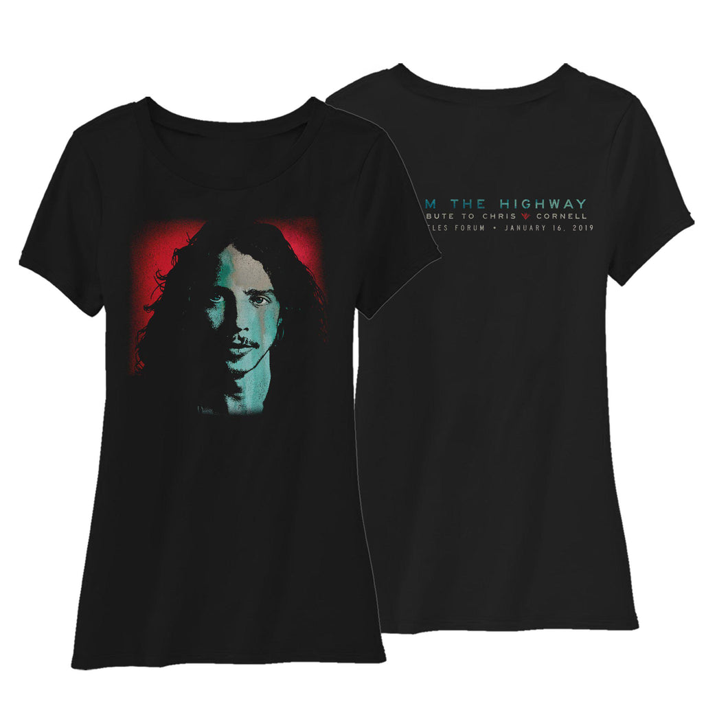 I Am The Highway Women's Tee-Chris Cornell