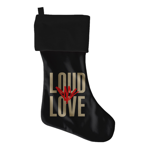 Loud Love Black Stocking