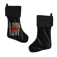 Load image into Gallery viewer, Loud Love Black Stocking