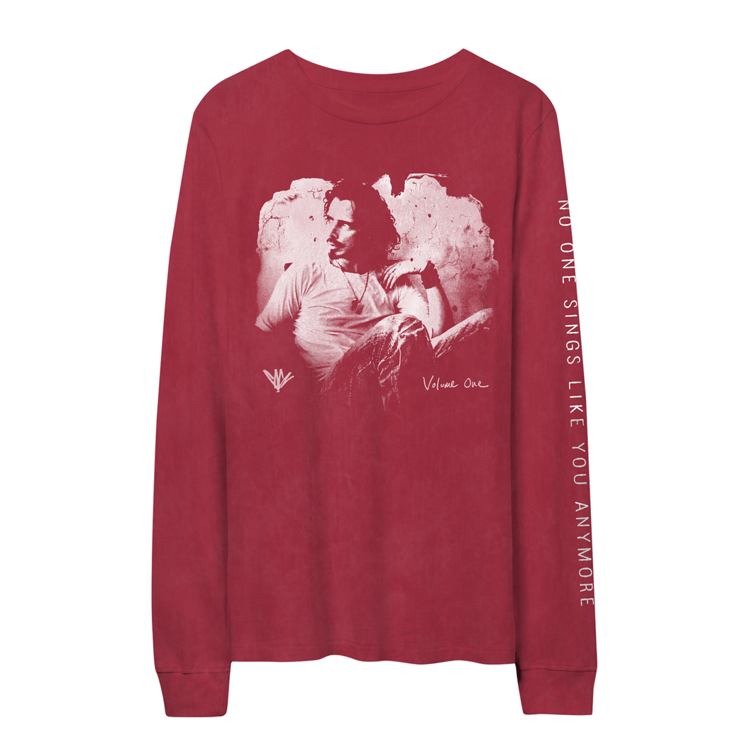 Painted Chris Cornell Red Longsleeve-Chris Cornell