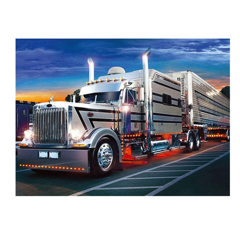 DIY Diamond Painting Kit - Keep On Trucking-Diamond Painting-Diamond Art Painter-Full Diamond-46X36cm-Diamond Art Painter