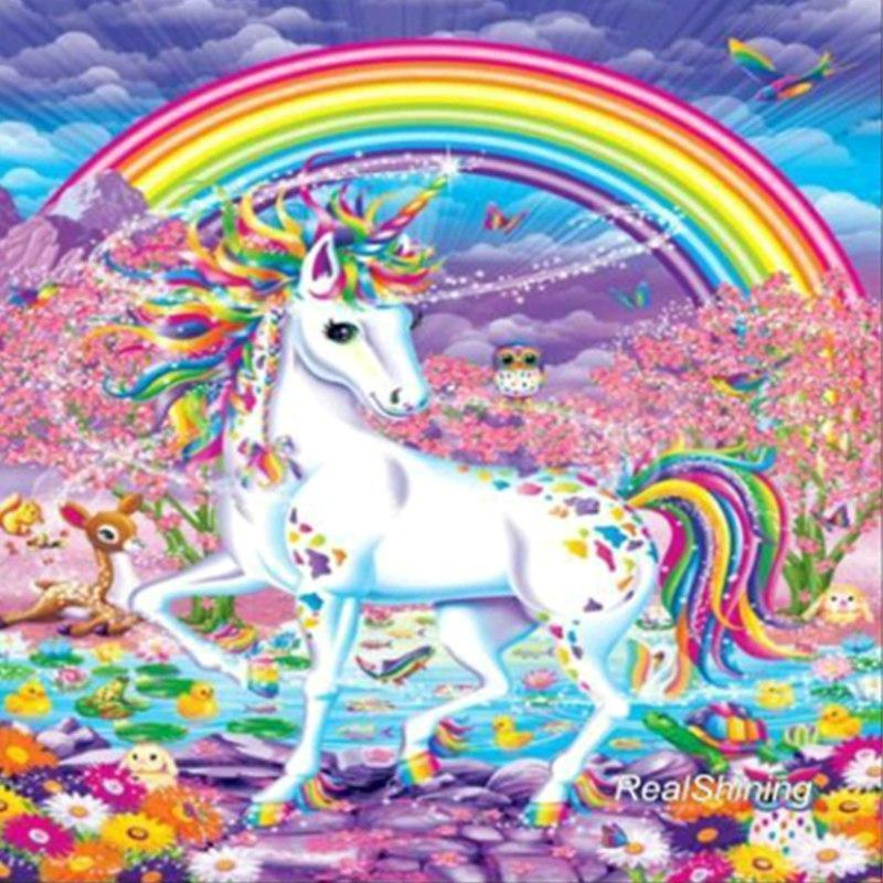 DIY Diamond Painting Kit - Rainbow Unicorn-Diamond Painting-CJ-50x50cm-Diamond Art Painter