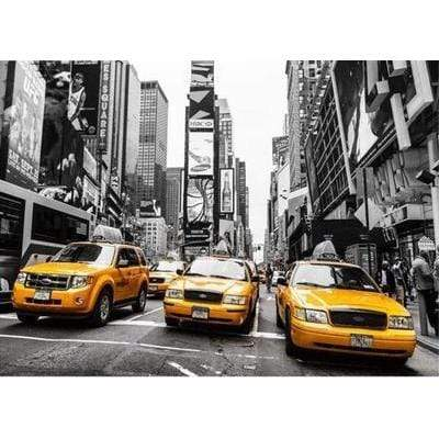 Image of 5D Diamond Painting Kit (DIY)- New York City Taxi Diamond Art Painter H120 full square 75x100cm