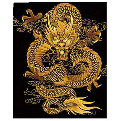 5D DIY Diamond Painting Chinese Dragon Mosaic Rhinestones Embroidery eprolo round drill 60x80cm