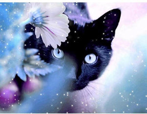 5D DIY Full Drill Diamond Painting Black Cat Cross Stitch Craft Kit Diamond Art Painter