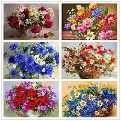 5D DIY Full Drill Diamond Painting Flower Bouquet Cross Stitch Craft Kit Diamond Art Painter