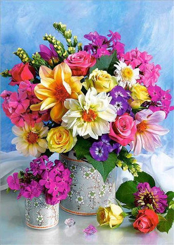 5D DIY Full Drill Diamond Painting Flower Bouquet Cross Stitch Craft Kit Diamond Art Painter Black 30*40cm