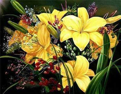 5D DIY Full Drill Diamond Painting Flower Bouquet Cross Stitch Craft Kit Diamond Art Painter Other 30*40cm