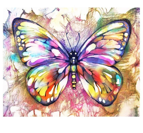 Image of 5D DIY Full Drill Diamond Painting Magical Butterfly Cross Stitch Craft Kit Diamond Art Painter