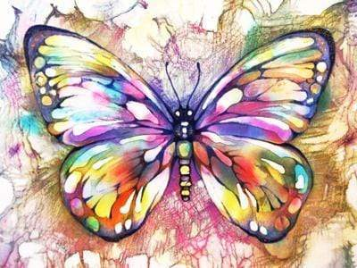 5D DIY Full Drill Diamond Painting Magical Butterfly Cross Stitch Craft Kit Diamond Art Painter F3321 20x15cm rolled bag