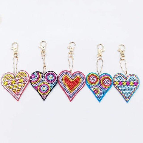 5pcs DIY Diamond Painting Keychain Special-shaped Full Drill Skull Ornament Diamond Art Painter YSK04