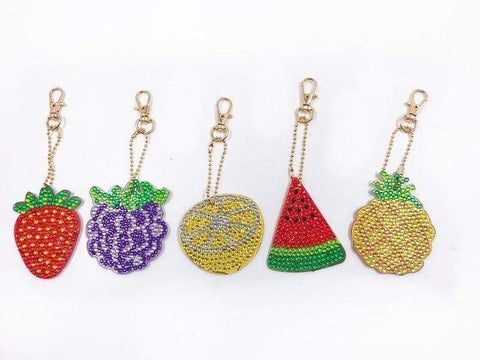 5pcs DIY Diamond Painting Keychain Special-shaped Full Drill Skull Ornament Diamond Art Painter YSK05