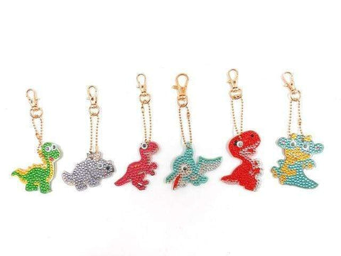 5pcs DIY Diamond Painting Keychain Special-shaped Full Drill Skull Ornament Diamond Art Painter YSK06