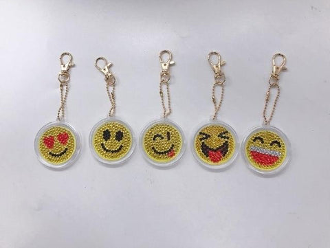 5pcs DIY Diamond Painting Keychain Special-shaped Full Drill Skull Ornament Diamond Art Painter YSK08