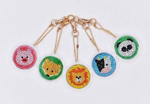 5pcs DIY Diamond Painting Keychain Special-shaped Full Drill Skull Ornament Diamond Art Painter YSK13