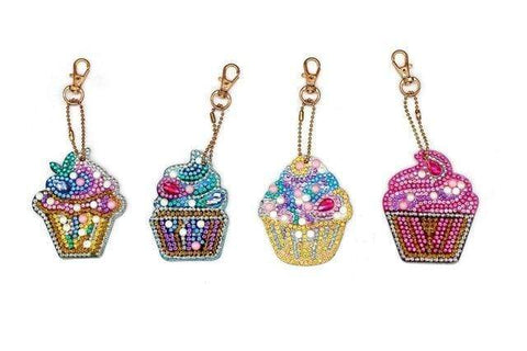 5pcs DIY Diamond Painting Keychain Special-shaped Full Drill Skull Ornament Diamond Art Painter YSK19